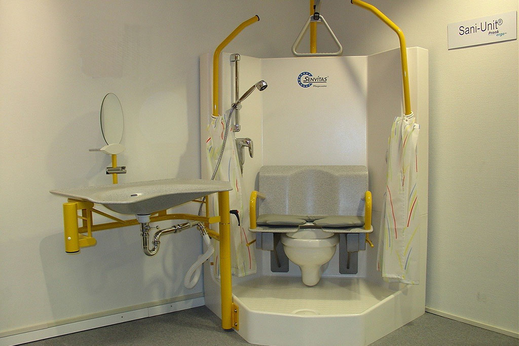 Tijdelijke badkamer