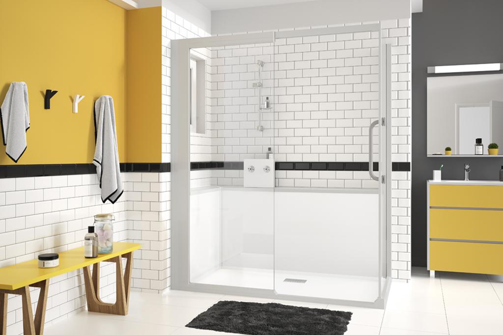 Inloopdouche Met Ligbad : Van bad naar douche in één dag pronk ergo